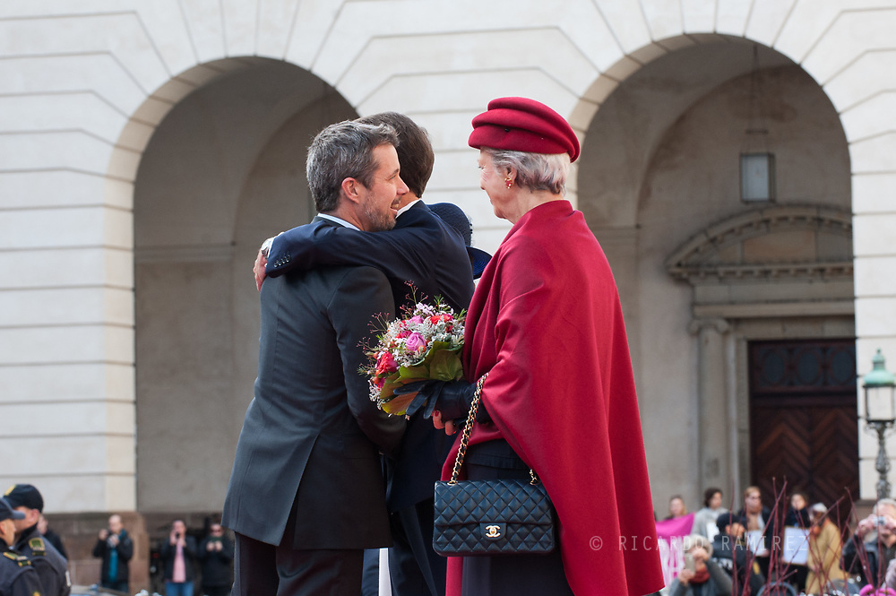 03.10.2017. Copenhagen, Denmark. <br /> Crown Prince Frederik, Prince Joachim, Princess Benedikte attended the opening session of the Danish Parliament (Folketinget) at Christiansborg Palace in Copenhagen, Denmark.<br /> Photo: © Ricardo Ramirez