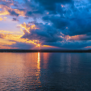 """""""The End""""<br /> <br /> The end to an amazing sunset on Lake Superior!"""
