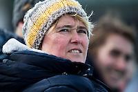 AMSTELVEEN - HOCKEY - Amsterdam coach Alyson Annan tijdens de hoofdklasse hockeywedstrijd tussen de vrouwen van Amsterdam en MOP (2-0). FOTO KOEN SUYK