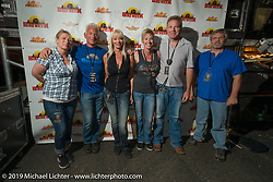 Arizona Bike Week staff before the ZZ Top concert at Cycle Fest at Westworld. USA. April 5, 2014.  Photography ©2014 Michael Lichter.