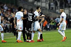 March 18, 2018 - Marseille, France - Rudi Garcia (OM) - Ocampos (OM) - tension (Credit Image: © Panoramic via ZUMA Press)