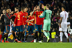 March 23, 2019 - Valencia, SPAIN - 190323 Sergio Ramos and goalkeeper David de Gea of Spain after the UEFA Euro Qualifier football match between Spain and Norway on March 23, 2019 in Valencia..Photo: Fredrik Varfjell / BILDBYRÃ…N / kod FV / 150220 (Credit Image: © Fredrik Varfjell/Bildbyran via ZUMA Press)
