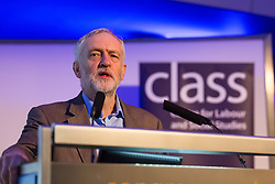 © Licensed to London News Pictures. 05/11/2016. LONDON, UK.  Labour leader, JEREMY CORBYN speaks at a conference held at the Centre for Labour and Social Studies, Trade Union Congress in London. Mr Corbyn spoke about Brexit and also accused tax dodgers of being unpatriotic and pledged that a future Labour government would crackdown on individuals and companies who fail to pay their fair share of the cost of Britain's public finances.  Photo credit: Vickie Flores/LNP