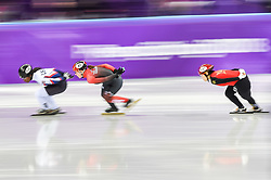 February 17, 2018 - Pyeongchang, Gangwon, South Korea - Valerie Maltais of  Canada  competing in 1500 meter speed skating for women at Gangneung Ice Arena, Gangneung, South Korea on 17 February 2018. (Credit Image: © Ulrik Pedersen/NurPhoto via ZUMA Press)