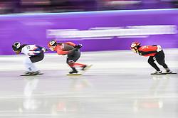 February 17, 2018 - Pyeongchang, Gangwon, South Korea - Valerie Maltais of Canada  competing in 1500 meter speed skating for women at Gangneung Ice Arena, Gangneung, South Korea on 17 February 2018. (Credit Image: © Ulrik Pedersen/NurPhoto via ZUMA Press)