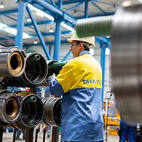 June 2018 TATA Steel - Gelshenkirchen Distribution Centre Steel worker with cutting blades
