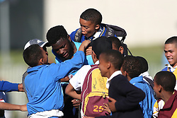 Jamba Ulengo of the Blue Bulls is congratulated by fans after the final whistle as Blue Bulls beat Boland during the Currie Cup premier division match between the Boland Cavaliers and The Blue Bulls held at Boland Stadium, Wellington, South Africa on the 23rd September 2016<br /> <br /> Photo by:   Shaun Roy/ Real Time Images