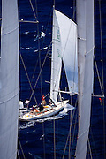 Diva sailing in the Butterfly Race at the Antigua Classic Yacht Regatta.