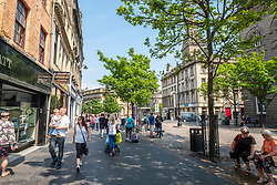 Busy High Street in central Dundee, Tayside,Scotland, Uk