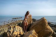 Gabrielle, from Australia, on Mamutik Island in Kota Kinabalu, Sabah, Malaysia.<br /> <br /> (August 2019)