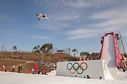 Julia Marino, USA, competes at the ladies big air qualification during the Pyeongchang Winter Olympics 2018 on February 19th 2018, at the Alpensia Ski Jumping Centre, South Korea