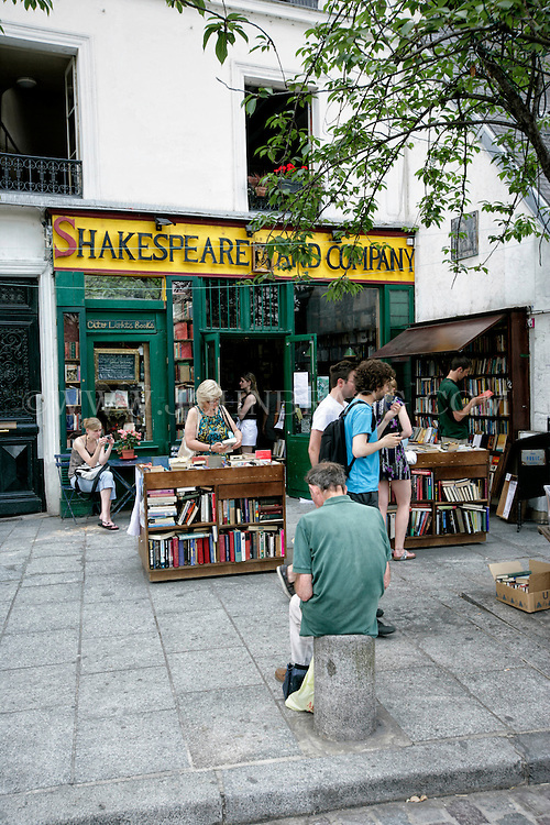 A photo of the Shakespeare and Company Bookstore, Paris, France (Vertical).