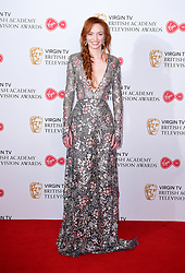 Eleanor Tomlinson in the press room at the Virgin TV British Academy Television Awards 2017 held at Festival Hall at Southbank Centre, London. PRESS ASSOCIATION Photo. Picture date: Sunday May 14, 2017. See PA story SHOWBIZ Bafta. Photo credit should read: Ian West/PA Wire