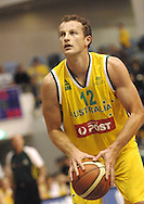 Glen Saville (Australia) lines up on the free throw line during the Ramsay Shield, Australia Post Boomers v New Zealand, Game 2, 2008.  Played at the State Netball & Hockey Centre. Australian Post Boomers defeated New Zealand. .Photo: Joel Strickland / SMP Images.Use information: This image is intended for Editorial use only (e.g. news or commentary, print or electronic). Any commercial or promotional use requires additional clearance.