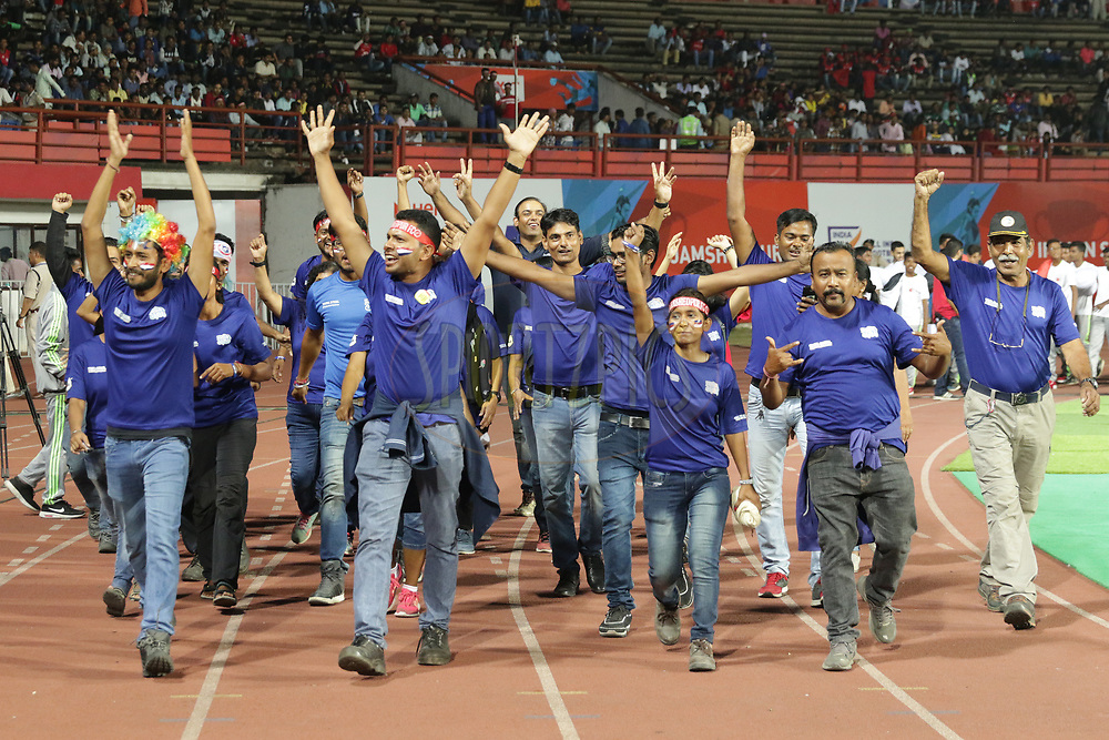 Mission Ganga during match 25 of the Hero Indian Super League 2018 ( ISL ) between Jamshedpur FC and FC Goa held at JRD Tata Sports Complex, Jamshedpur, India on the 1st November  2018<br /> <br /> Photo by Saikat Das /SPORTZPICS for ISL