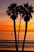 Orange County Sunset Over The Ocean