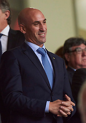 September 11, 2018 - Elche, U.S. - ELCHE, SPAIN - SEPTEMBER 11: Luis Manuel Rubiales ,president of Spanish Royal Football Federation before the UEFA Nations League A Group four match between Spain and Croatia on September 11, 2018, at Estadio Manuel Martinez Valero in Elche, Spain. (Photo by Carlos Sanchez Martinez/Icon Sportswire) (Credit Image: © Carlos Sanchez Martinez/Icon SMI via ZUMA Press)
