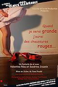 "Poster of the theatre play ""QUAND JE SERAI GRANDE J'AURAI DES CHAUSSURES ROUGES""...Photo & Design : Capucine Bailly"