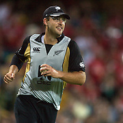 New Zealand captain Daniel Vettori after taking a catch to dismiss Cam White during the Twenty20 International between Australia and New Zealand  at the Sydney Cricket Ground on the 15th February 2009. Australia won the thrilling match by one run. Photo Tim Clayton