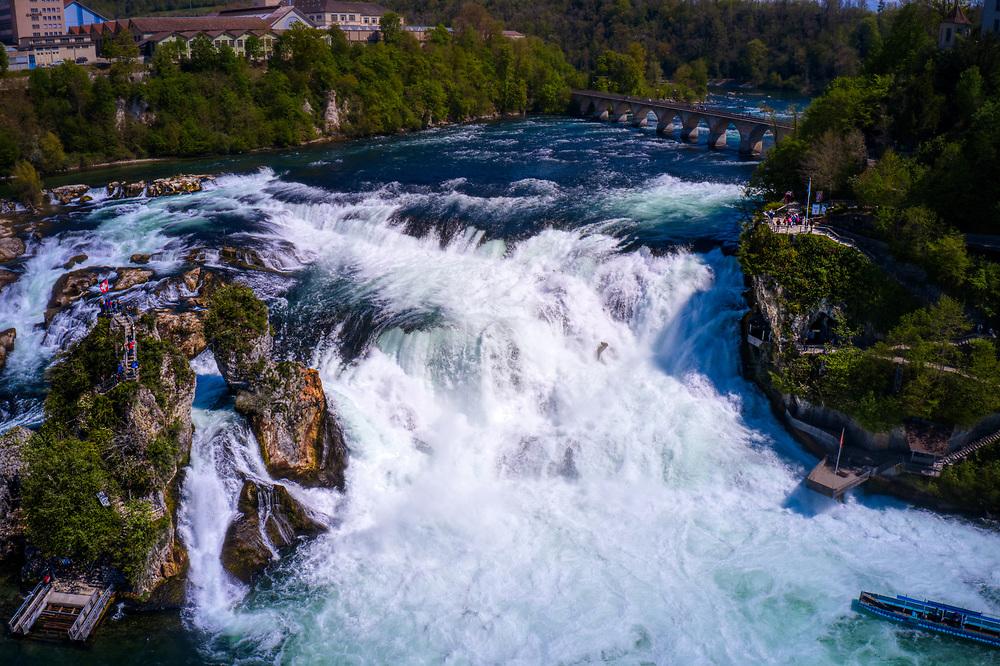 The Rhein falls in Schaffhausen, Switzerland