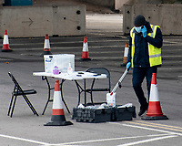 Covid 19 moble testing unit Spon Street Car Park Coventry photo by Mark Anton Smith