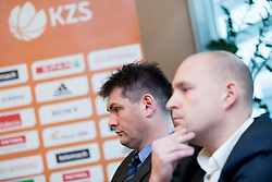 Ales Puhar of KK Sencur at press conference before Finals of Spar Cup 2018, on January 31, 2018 in Ljubljana, Slovenia. Photo by Urban Urbanc / Sportida