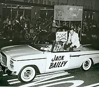 1961 Jack Bailey at the Christmas Santa Claus Lane Parade on Hollywood Blvd.