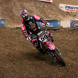 14 March 2009: Troy Adams (59) rides in a qualifying heat during the Monster Energy AMA Supercross race at the Louisiana Superdome in New Orleans, Louisiana