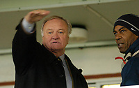 Photo: Leigh Quinnell.<br /> Hartlepool United v Swindon Town. Coca Cola League 1.<br /> 02/01/2006. Ron Atkinson gets ready to watch the game.