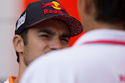 September 7, 2017 - San Marino, RN, Italy - Dani Pedrosa of Repsol Honda Team before the presentation press conference of the Tribul Mastercard Grand Prix of San Marino and Riviera di Rimini, at Misano World Circuit ''Marco Simoncelli'', on September 07, 2017 in Misano Adriatico, Italy  (Credit Image: © Danilo Di Giovanni/NurPhoto via ZUMA Press)