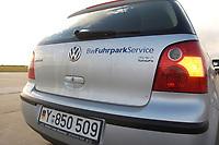 03 NOV 2003, LAAGE/GERMANY:<br /> VW Polo der Bw-Fuhrpark-Service, eine gemeinsame Tochterfirma der Bundeswehrprivatisierungsgesellschaft GEBB und der Deutschen Bahn, die die Bundeswehr mit handelsueblichen Fahrzeugen versorgt, Fliegerhorst Laage<br /> IMAGE: 20031103-01-016<br /> KEYWORDS: Bundeswehr, Privatisierung, Bundeswehr-Fuhrpark-Service, Auto, Car, PKW