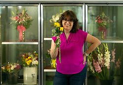 Paula Trotta, whose Paula's Family Florist was voted Best Florist in the Bay Area News Group's Best in the East Bay poll, poses for a photograph in her shop, Tuesday, March 16, 2021 in Antioch, Calif. (Photo by D. Ross Cameron)