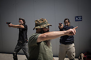 Many persons are training at the Center, normal people, security guards and even military. The center is composed of multiple shooting range to simulate different warfare scenarios.