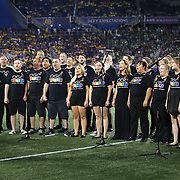 ORLANDO, FL - JUNE 18:  The Orlando Gay Chorus performs at halftime during an MLS soccer match between the San Jose Earthquakes and the Orlando City SC at Camping World Stadium on June 18, 2016 in Orlando, Florida. (Photo by Alex Menendez/Getty Images) *** Local Caption *** Orlando Gay Chorus