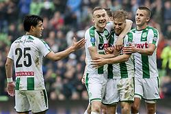 FC GRONINGEN - EXCELSIOR, 19. Van Weert scoort de 1-0 during the Dutch Eredivisie match between FC Groningen and sbv Excelsior at Noordlease stadium on April 29, 2018 in Groningen, The Netherlands