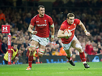 Rugby Union - 2017 Under Armour Series (Autumn Internationals) - Wales vs. South Africa<br /> <br /> Hallam Amos of Wales cuts inside, at The Principality Stadium (Millennium Stadium), Cardiff.<br /> <br /> COLORSPORT/WINSTON BYNORTH