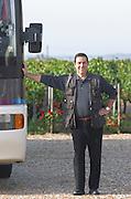 Bus. And driver. Chateau la Grace Dieu les Menuts, Saint Emilion, Bordeaux, France