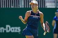 Angelique Kerber of Germany fist pumps during the Nature Valley International at Devonshire Park, Eastbourne, United Kingdom on 27 June 2018. Picture by Martin Cole.
