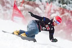 Zan Kosir of Slovenia during Qualification Run of FIS Snowboard World Cup Rogla 2013 in Parallel Giant slalom, on February 8, 2013 in Rogla, Slovenia. (Photo By Vid Ponikvar / Sportida.com)
