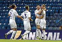 Leeds United's Liam Cooper (R) celebrates with team-mates after scoring the opening goal <br /> <br /> Photographer Rich Linley/CameraSport<br /> <br /> The EFL Sky Bet Championship -  Leeds United v Preston North End - Tuesday September 18th 2018 - Elland Road - Leeds<br /> <br /> World Copyright © 2018 CameraSport. All rights reserved. 43 Linden Ave. Countesthorpe. Leicester. England. LE8 5PG - Tel: +44 (0) 116 277 4147 - admin@camerasport.com - www.camerasport.com