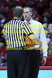 05 January 2013:  Randy Heimerman speaks with Dan Muller during an NCAA Missouri Valley Conference (MVC) mens basketball game between the Northern Iowa Panthers and the Illinois State Redbirds in Redbird Arena, Normal IL