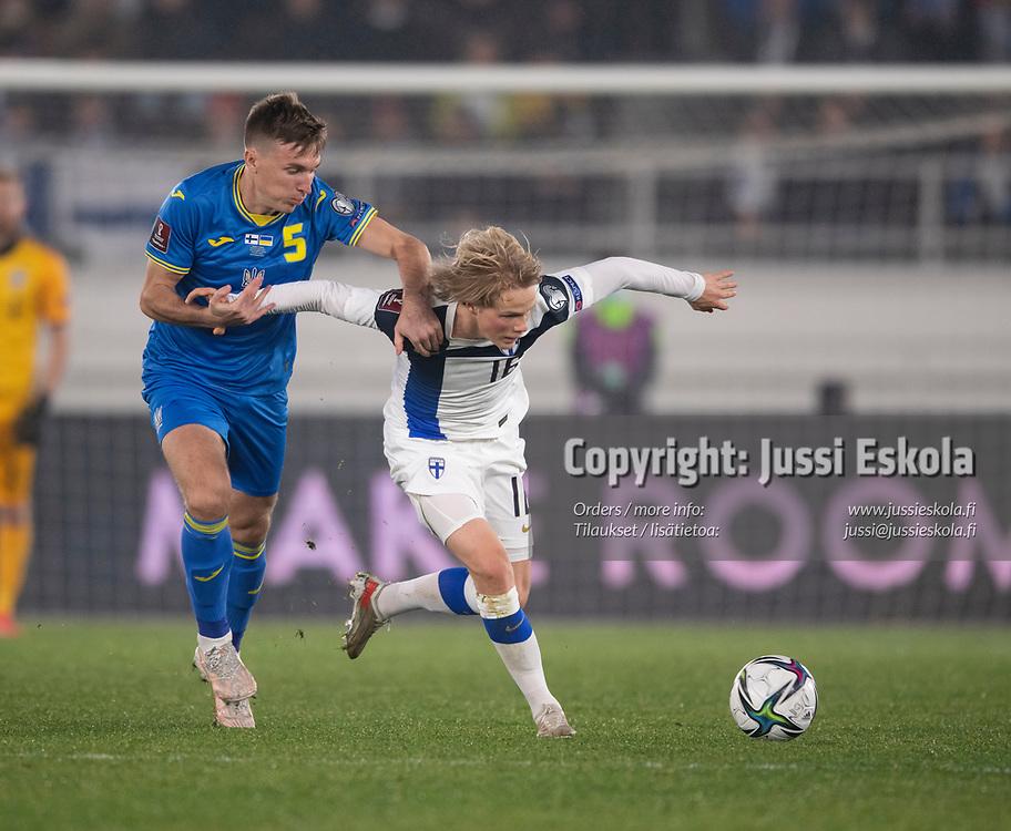 Urho Nissilä. Suomi - Ukraina. MM-karsinta. Helsinki 9.10.2021. Photo: Jussi Eskola