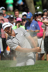 March 23, 2019 - Palm Harbor, FL, U.S. - PALM HARBOR, FL - MARCH 23: Dustin Johnson blasts out of the green side bunker on the 5th hole during the third round of the Valspar Championship on March 23, 2019, at Westin Innisbrook-Copperhead Course in Palm Harbor, FL. (Photo by Cliff Welch/Icon Sportswire) (Credit Image: © Cliff Welch/Icon SMI via ZUMA Press)