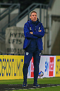 Cardiff City Manager Neil Harris during the EFL Sky Bet Championship match between Derby County and Cardiff City at the Pride Park, Derby, England on 28 October 2020.