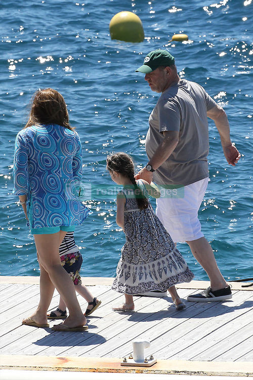 Please Hide The Child's Face Prior To The Publication - American producer Harvey Weinstein with his wife Georgina Chapman and their children Dashiell Weinstein and India Pearl Weinstein arriving at Hotel Eden Roc in Antibes, France on May 22, 2015 during the 68th Cannes Film Festival. Photo by ABACAPRESS.COM  | 501621_007 Antibes France