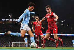 Leroy Sane of Manchester City takes on Joe Bryan of Bristol City - Mandatory by-line: Matt McNulty/JMP - 09/01/2018 - FOOTBALL - Etihad Stadium - Manchester, England - Manchester City v Bristol City - Carabao Cup Semi-Final First Leg