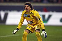 FOOTBALL - FRENCH CHAMPIONSHIP 2011/2012 - L1 - PARIS SAINT GERMAIN v AC AJACCIO - 4/03/2012 - PHOTO ERIC BRETAGNON / DPPI - GUILLERMO OCHOA (ACA)