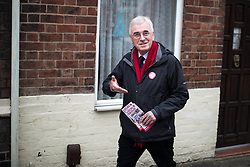 © Licensed to London News Pictures . 19/02/2017. Stoke-on-Trent, UK. Labour Shadow Chancellor JOHN MCDONNELL canvassing in the Cliffe Vale district of Stoke . John McDonnell joins Gareth Snell - the party's candidate for the seat of Stoke-on-Trent Central , in the by-election campaign . Photo credit: Joel Goodman/LNP