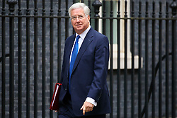 © Licensed to London News Pictures. 18/10/2016. London, UK. Defence Secretary MICHAEL FALLON attends a cabinet meeting in Downing Street on Tuesday, 18 October 2016. Photo credit: Tolga Akmen/LNP