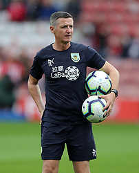 """Burnley first-team coach Tony Loughlan before the Premier League match at St Mary's, Southampton. PRESS ASSOCIATION Photo. Picture date: Sunday August 12, 2018. See PA story SOCCER Southampton. Photo credit should read: Andrew Matthews/PA Wire. RESTRICTIONS: EDITORIAL USE ONLY No use with unauthorised audio, video, data, fixture lists, club/league logos or """"live"""" services. Online in-match use limited to 120 images, no video emulation. No use in betting, games or single club/league/player publications."""
